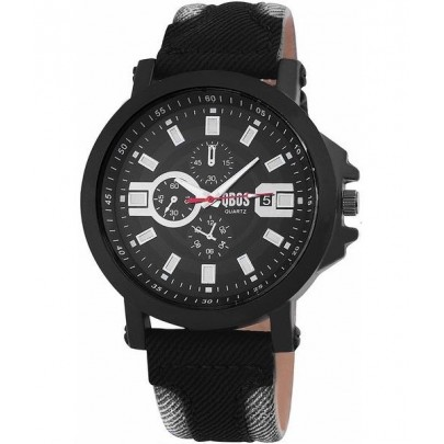 Pánske hodinky QBOS čierne Grey