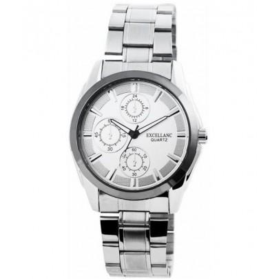 Pánske kovové hodinky Excellanc strieborné Silver