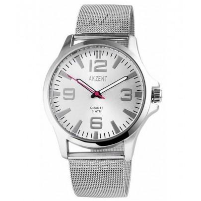 Pánske hodinky Akzent strieborné