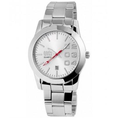 Pánske kovové hodinky QBOS strieborné