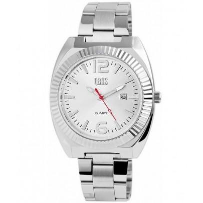 Pánske kovové hodinky QBOS strieborné Silver