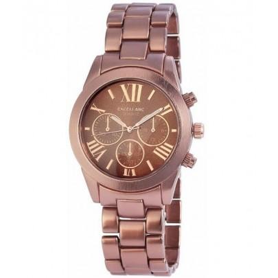 Pánske kovové hodinky Excellanc bronzové