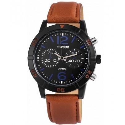 Pánske hodinky Aerostar hnedé
