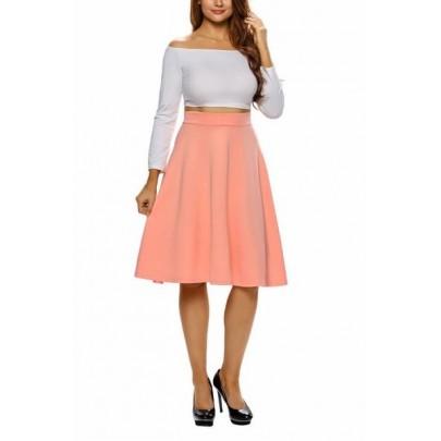 Dámska sukňa - oranžová