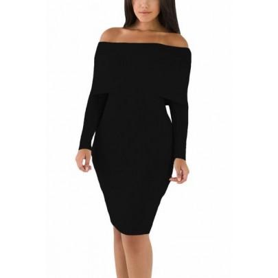 Čierne pletené šaty Maliah
