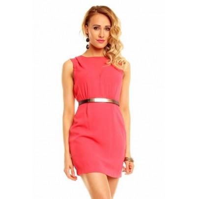 Dámske ružové šaty s opaskom Hagne