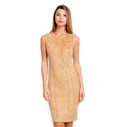 Dámske šaty DeCo hnedé