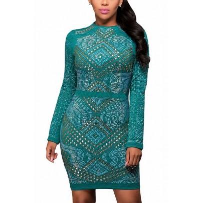 Vykladané dámske šaty Nicole - modré