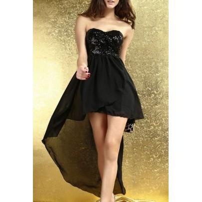 Dlhé šaty PROM - čierne