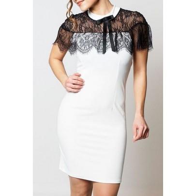 Dámske biele šaty s čipkou Diane