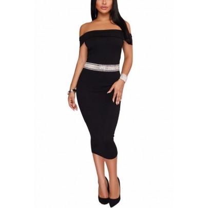 Čierne dámske midi šaty Rachel