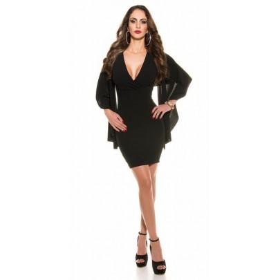 Čierne dámske trendy šaty Latisha