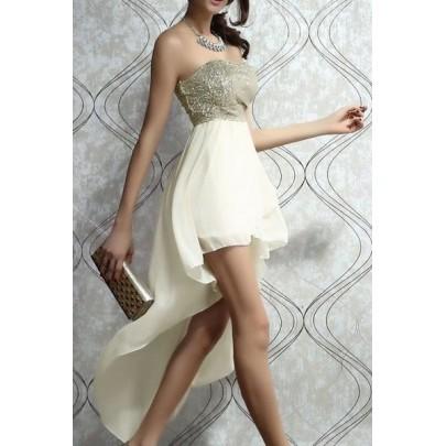 Dlhé šaty PROM - béžové