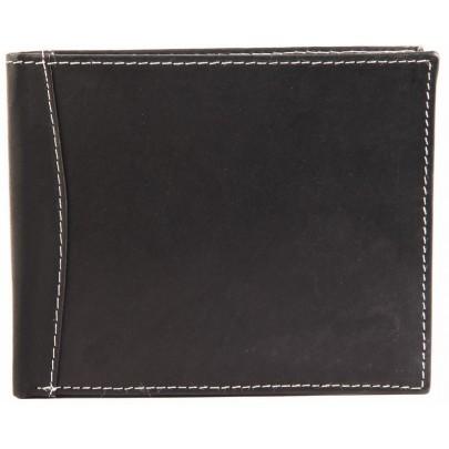 Pánska kožená peňaženka - čiernobiela