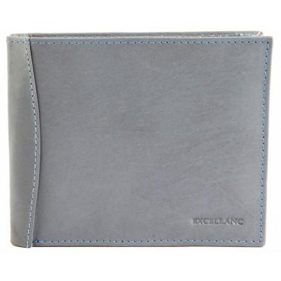 Štýlová pánska kožená peňaženka - sivá