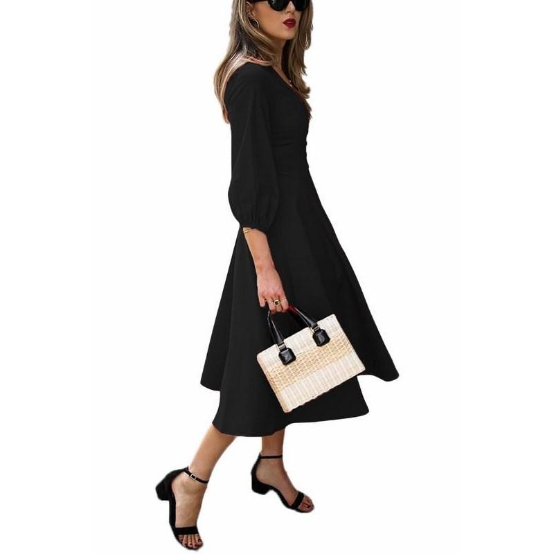 9e019ca5f734b Štýlové dámske šaty Alessia - čierne Štýlové dámske šaty Alessia - čierne  ...