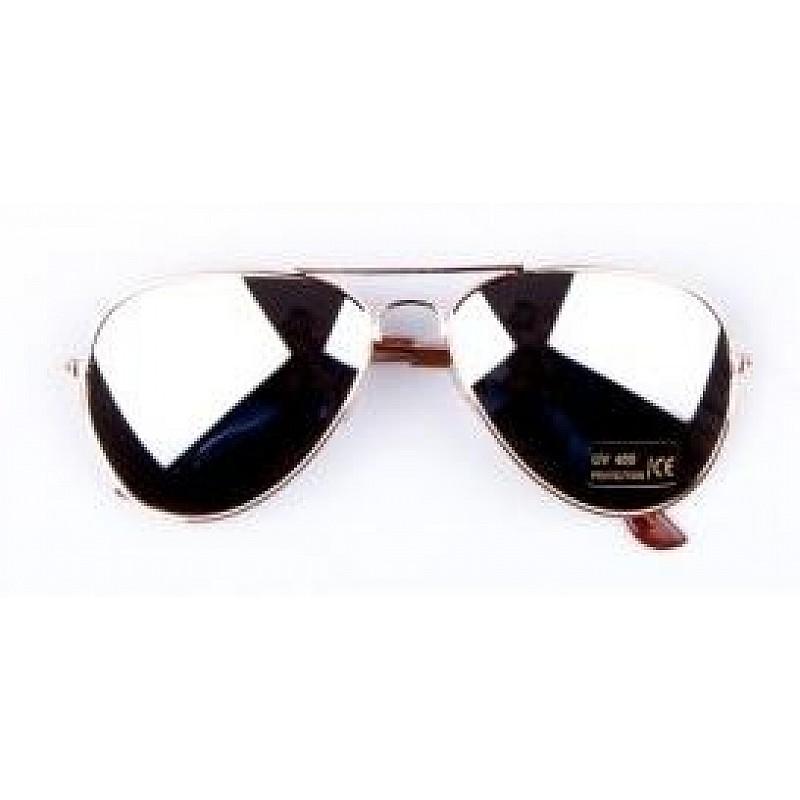 3a6801382 ... Slnečné okuliare AVIATOR - pilotky zlatý kovový rám zrkadlové sklá