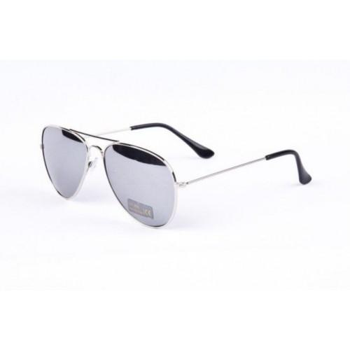 26d88ab03 Sluneční brýle AVIATOR - pilotky stříbrný kovový rám zrcadlová skla