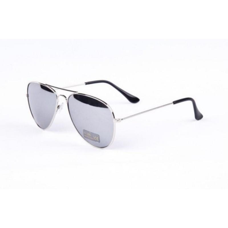 b08e1a7af Slnečné okuliare AVIATOR - pilotky strieborný kovový rám zrkadlové sklá