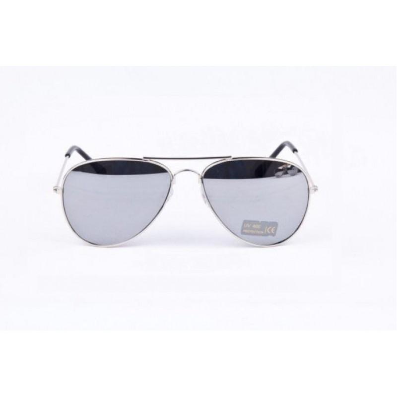 1c07bdc83 ... Slnečné okuliare AVIATOR - pilotky strieborný kovový rám zrkadlové sklá  ...