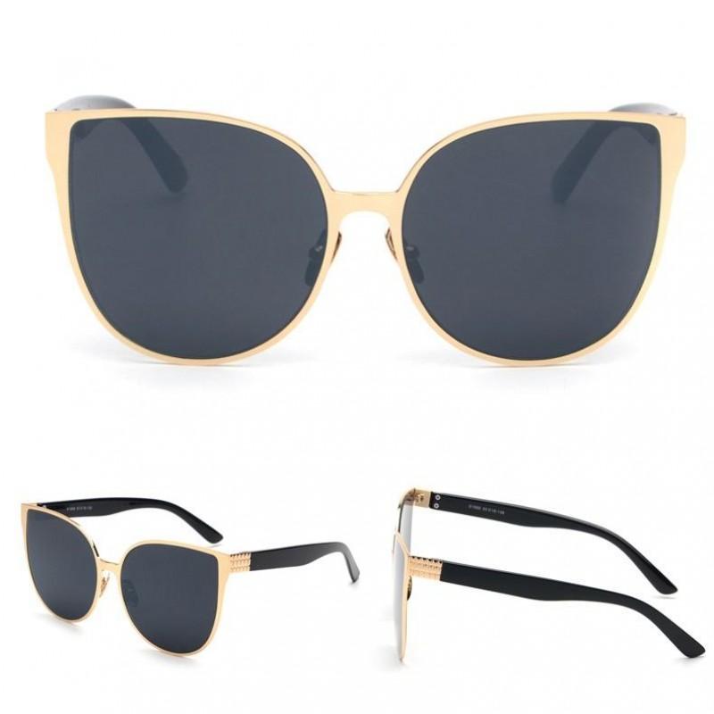 f8f630a9f Dámske slnečné okuliare Elegance zlatý rám čierne sklá | Bellago.sk