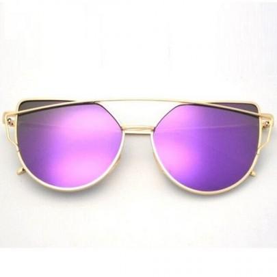 Dámske slnečné okuliare Glam zlatý rám fialové sklá