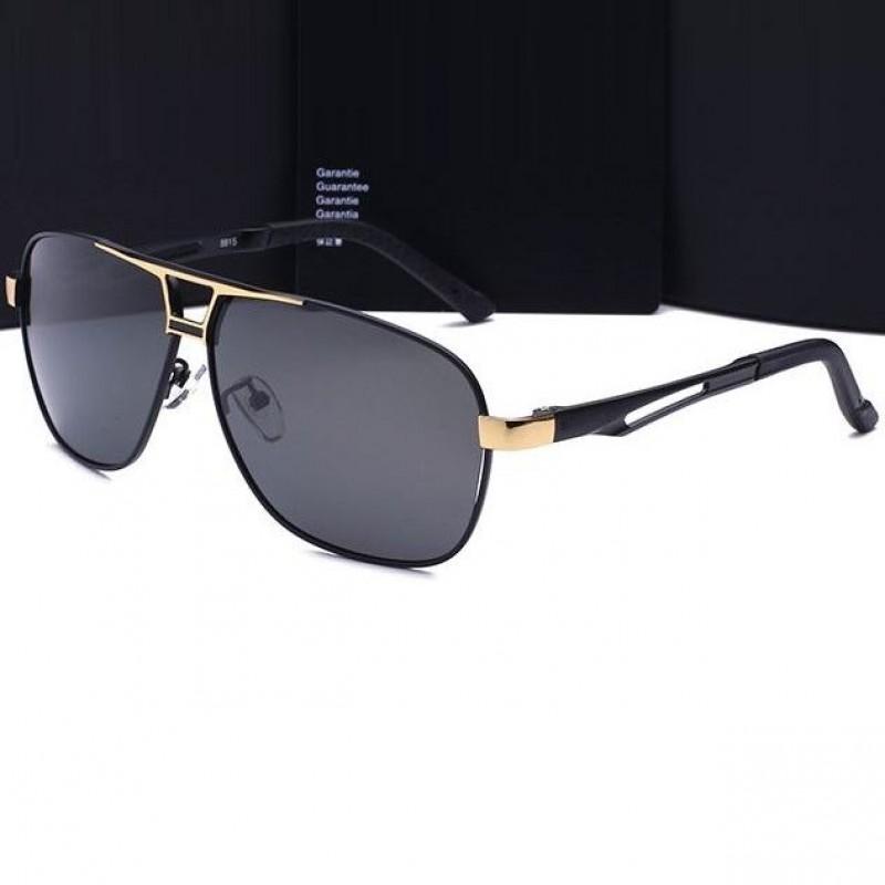 b60014910 Polarizačné slnečné okuliare pilotky Luxury - zlaté čierne | Bellago.sk