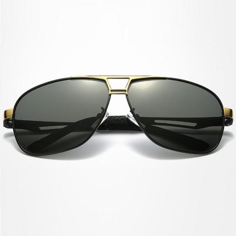 3defd0969 Polarizačné slnečné okuliare pilotky Mauro zlaté čierne Polarizačné slnečné  okuliare pilotky Mauro zlaté čierne ...