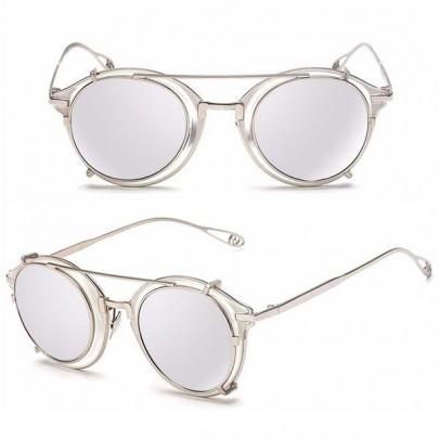 Slnečné okuliare Punk Vintage strieborné