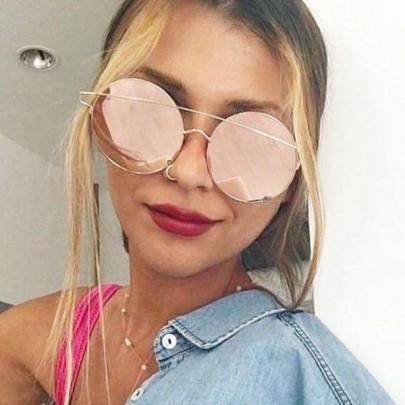 Dámske slnečné okuliare Feme ružové sklá