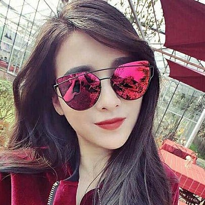 Dámske slnečné okuliare Glam červené