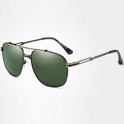 Polarizačné slnečné okuliare pilotky Andree zlaté zelené