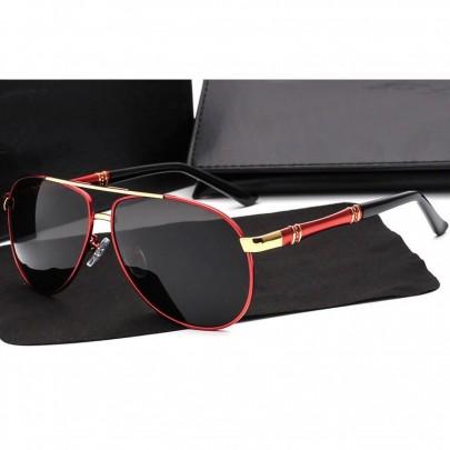 Polarizačné slnečné okuliare pilotky Zac červené