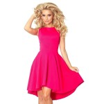 Atraktívne dámske šaty Nancy ružové v66-3