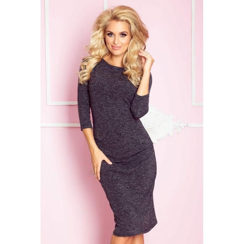 1eeb8208fc Úpletové dámske šaty Lacey - čierne 59-1