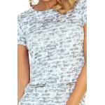 Moderné dámske šaty Raena - sivé 134-4