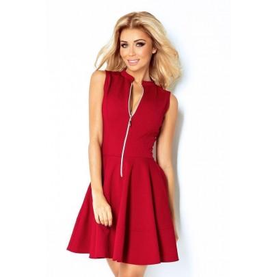 Nevšedné dámske šaty Caprice - bordové v123-4