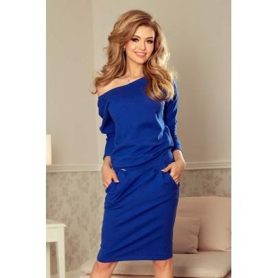 Štýlové dámske šaty Tessa - modré 189-2