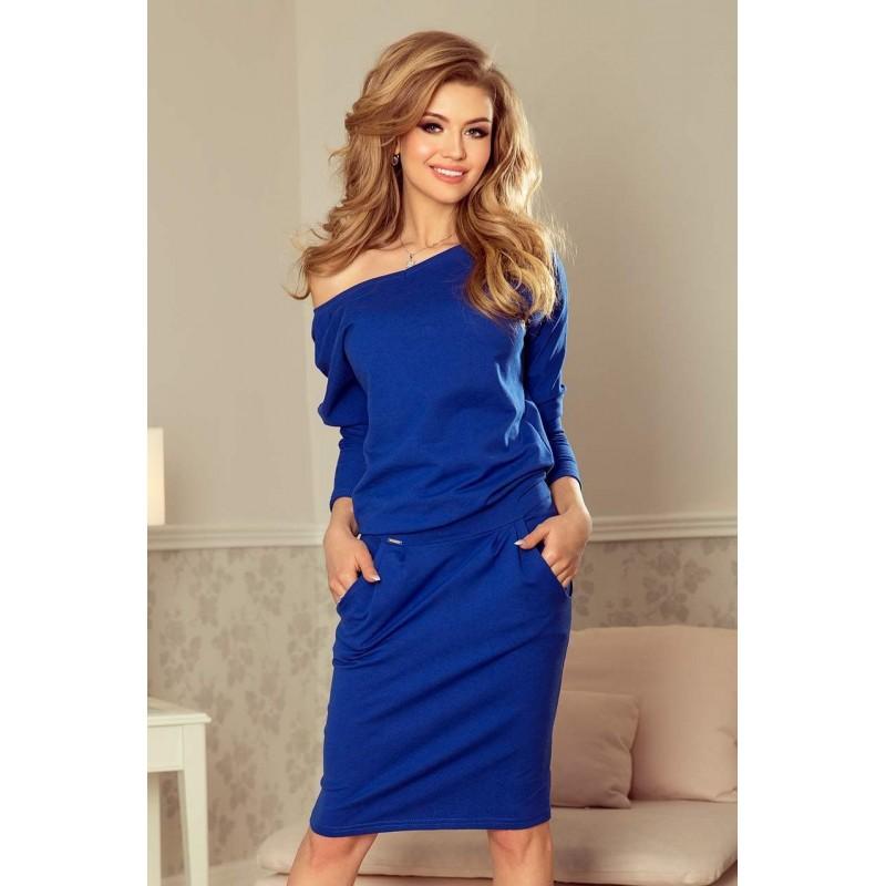 631808442 Štýlové dámske šaty Tessa - modré 189-2 | Bellago.sk