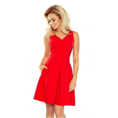 Šaty so skladanou sukňou Rossella - červené 160-3