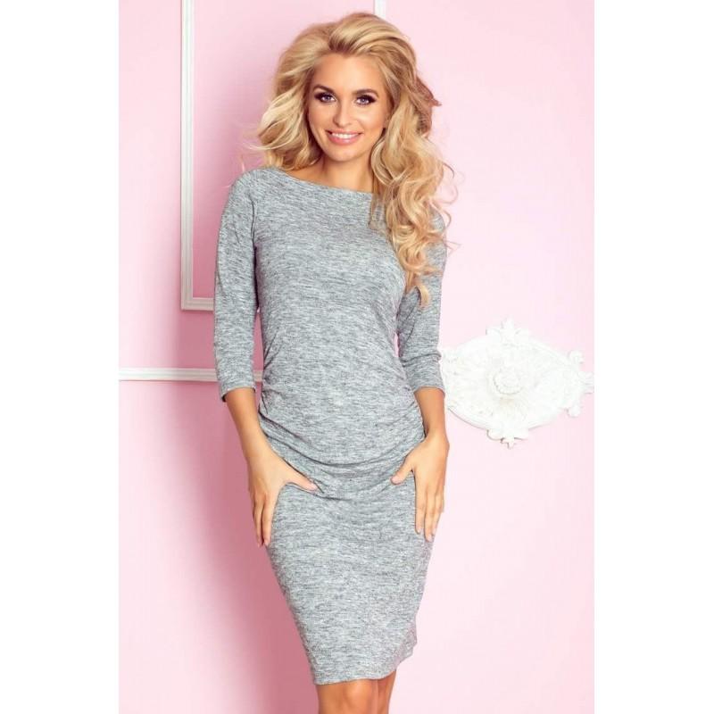 99d39776dfbc Úpletové dámske šaty Lacey - sivé 59-2