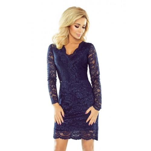 70e24a511e50 Krajkové dámské šaty Giona - tmavě modré 170-2