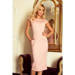 Elegantné midi šaty Edita - ružové 144-6
