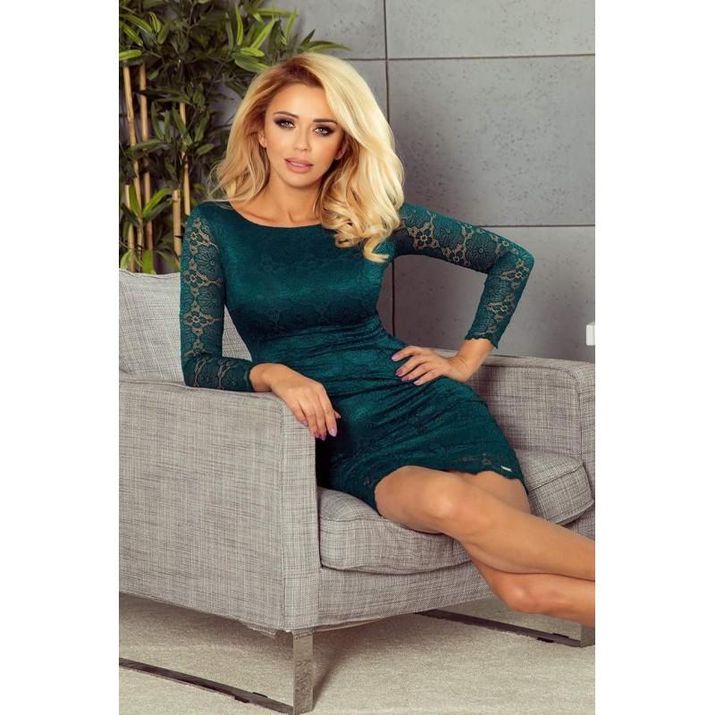 edd88bb154ef Trendy dámske šaty s čipkou Amy - zelené 180-2