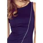 Asymetrické dámske šaty Cindy tmavo modré vMM 004-2