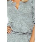 Dámske šaty s límcom Pietra sivé v161-3