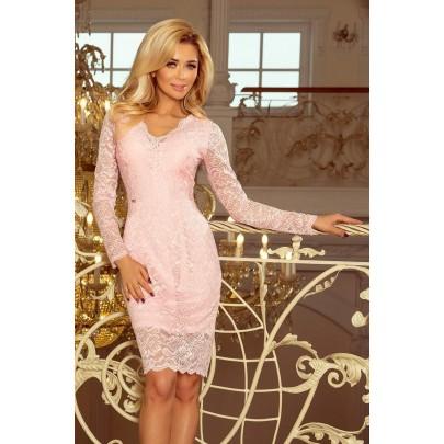 Čipkované dámske šaty Giona ružové 170-4