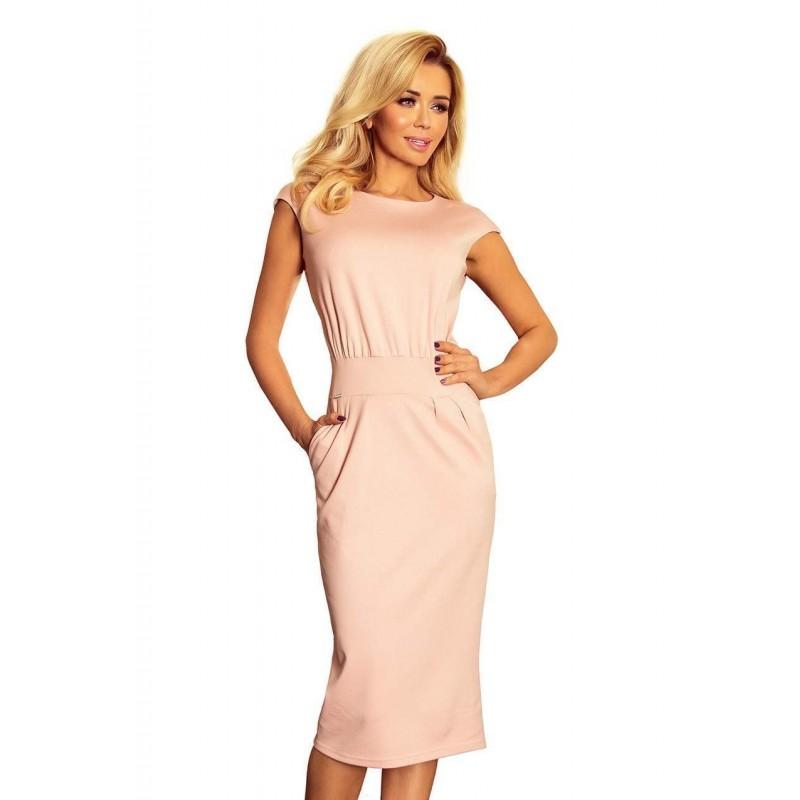 e538a5505f30 ... Elegantné midi šaty Edita - ružové 144-6