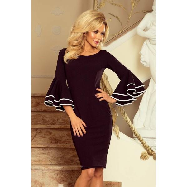 Šaty so širokými rukávmi Sabrina - čierne 188-2