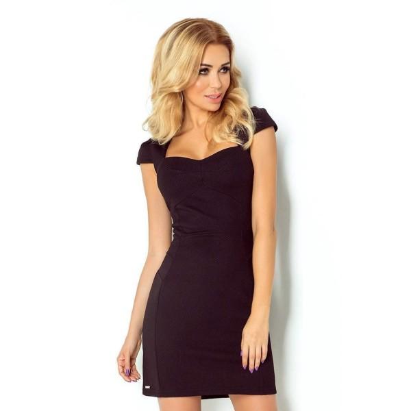 Atraktívne dámske šaty Belina čierne v118-5